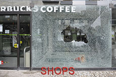 Shop window safety film